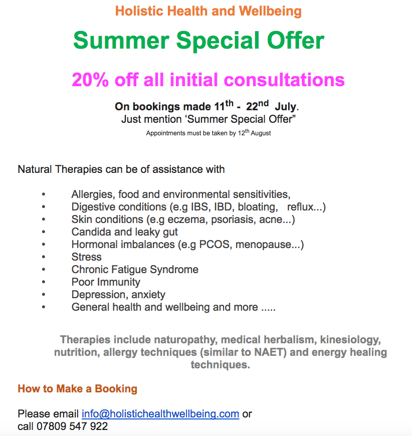 Kirsty's summer offer